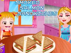 Baby Hazel: Smoked Salmon Sandwiches