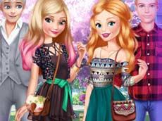 Elsa and Barbie Date Fashion
