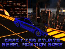Crazy Car Stunts On The Rebel Martian Base