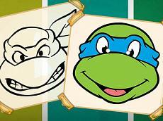 Ninja Turtles Coloring Book
