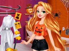 Rapunzel and Moanas Halloween Party