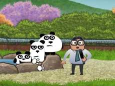 Three Pandas In Japan