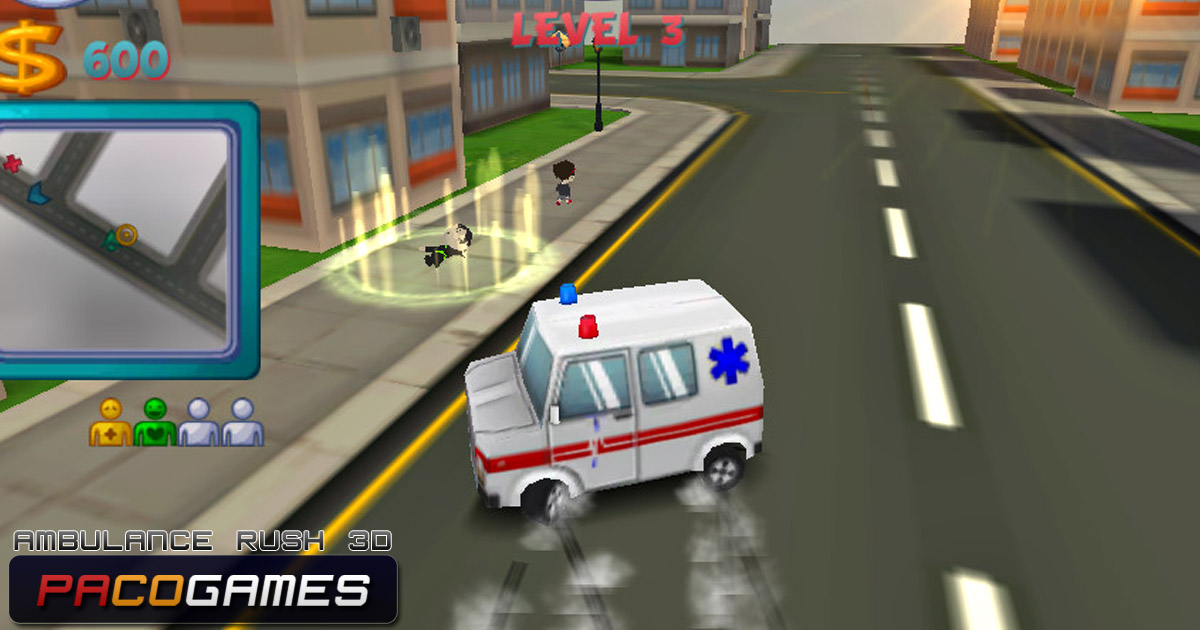 Ambulance Rush 3d Play The Game For Free On Pacogames