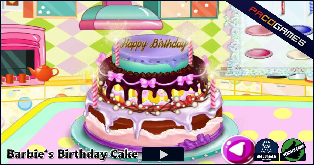 Barbies Birthday Cake Play It For Free At Pacogames