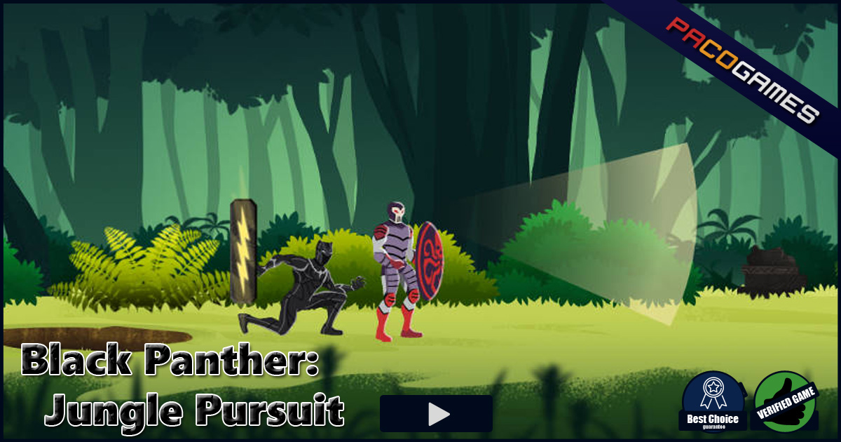 Black Panther Jungle Pursuit Play The Game For Free On Pacogames