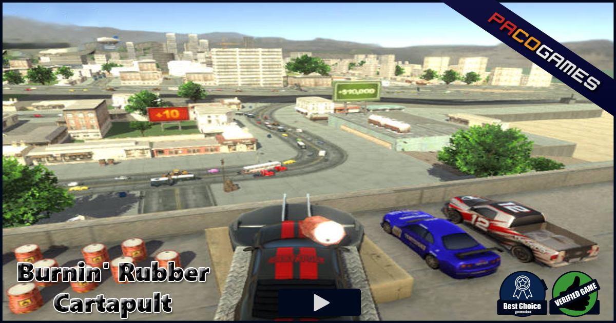 Burnin' Rubber Cartapult | Play the Game for Free on PacoGames