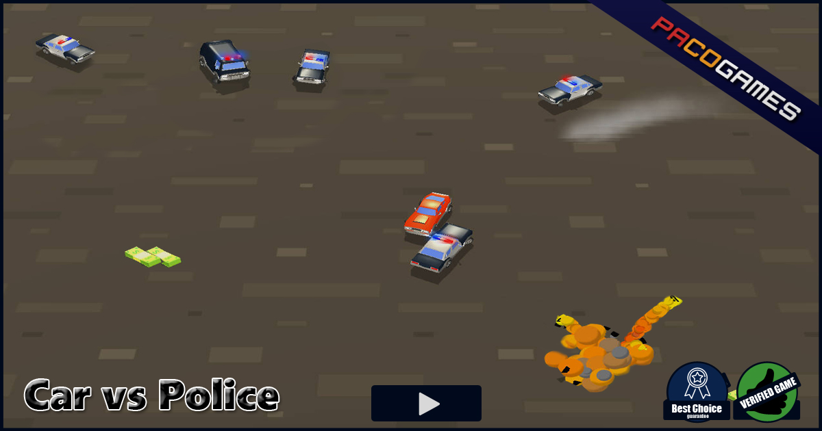 car vs police play it for free at pacogames com