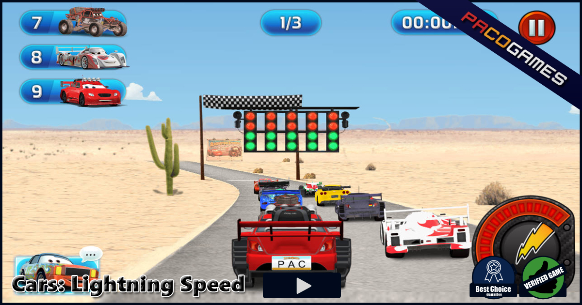 Cars: Lightning Speed | Play the Game for Free on PacoGames