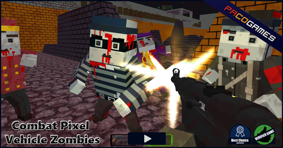 Combat PIxel Vehicle Zombies Play It For Free At PacoGamescom - Minecraft spiele mit zombies