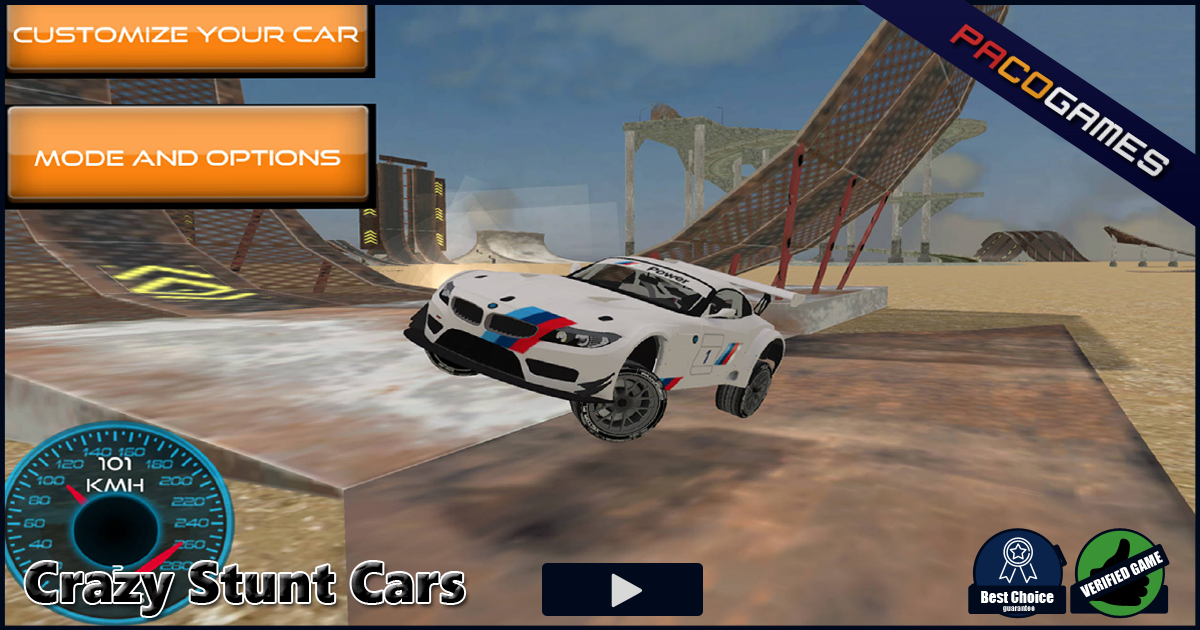 Crazy Stunt Cars Play The Game For Free On Pacogames