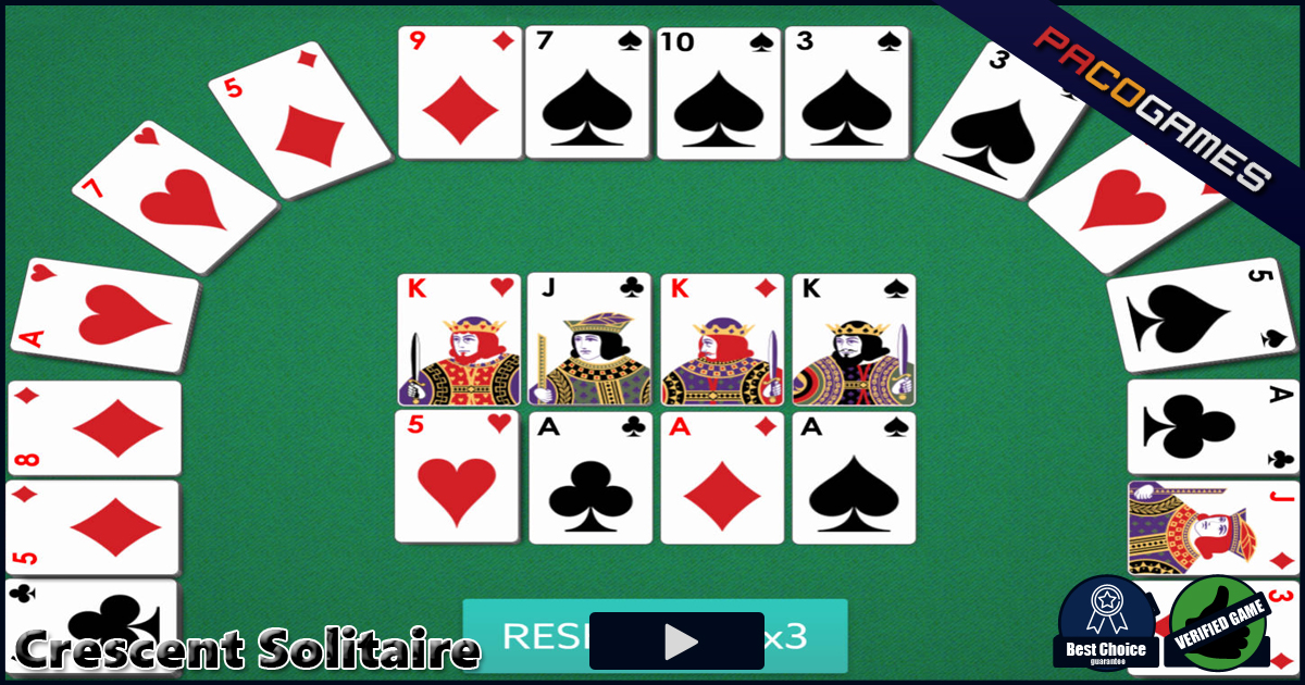 Play Crescent Solitaire 2 online!