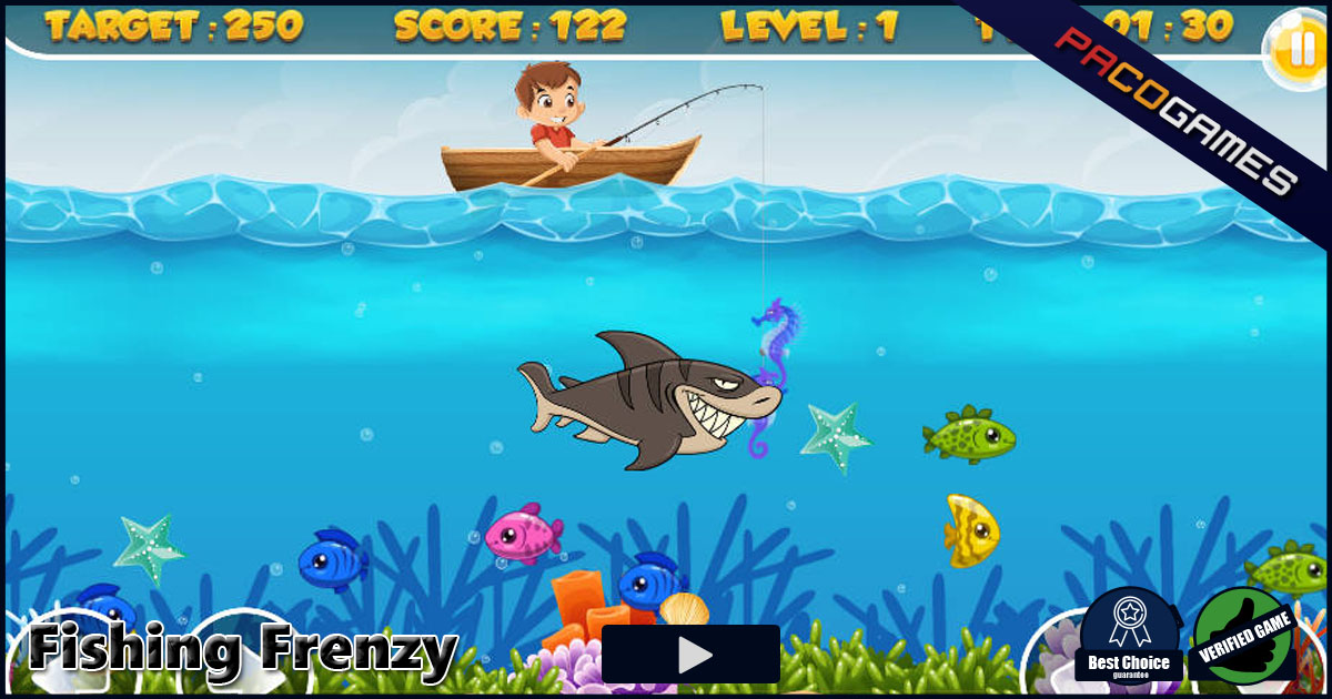 Fishing frenzy play it for free at for Fish frenzy game