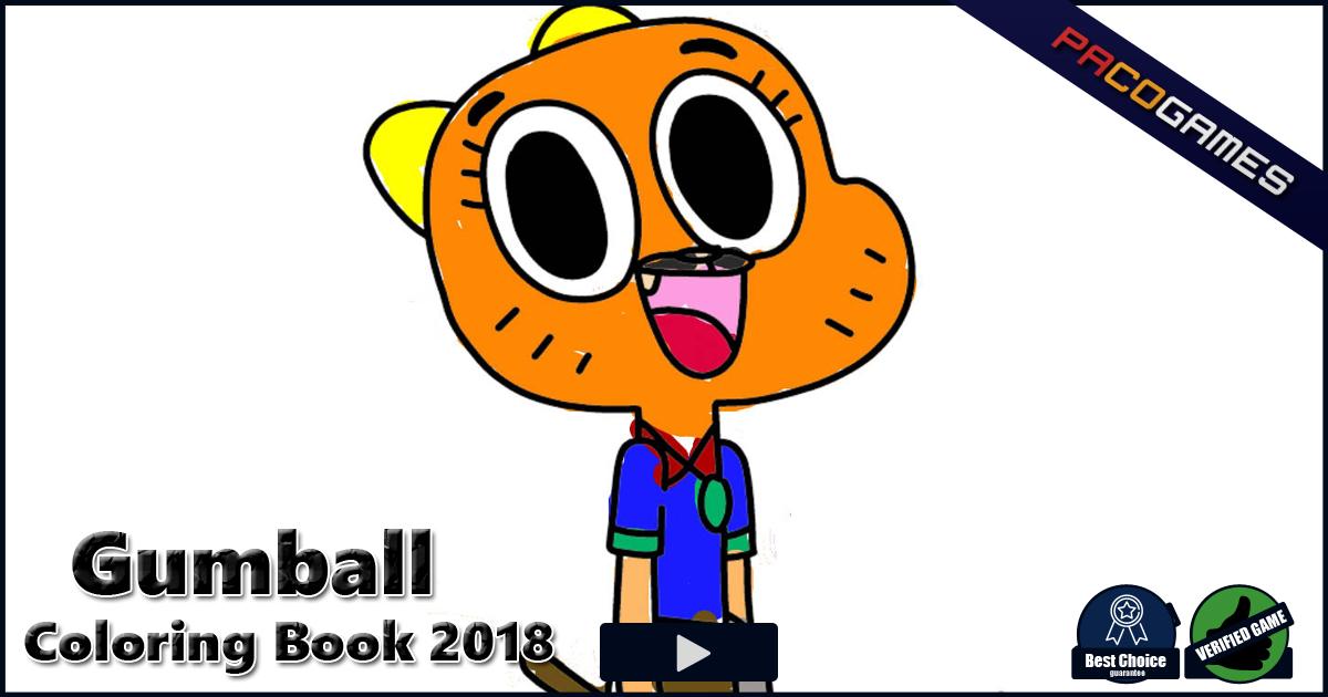 Gumball Coloring Book 2018