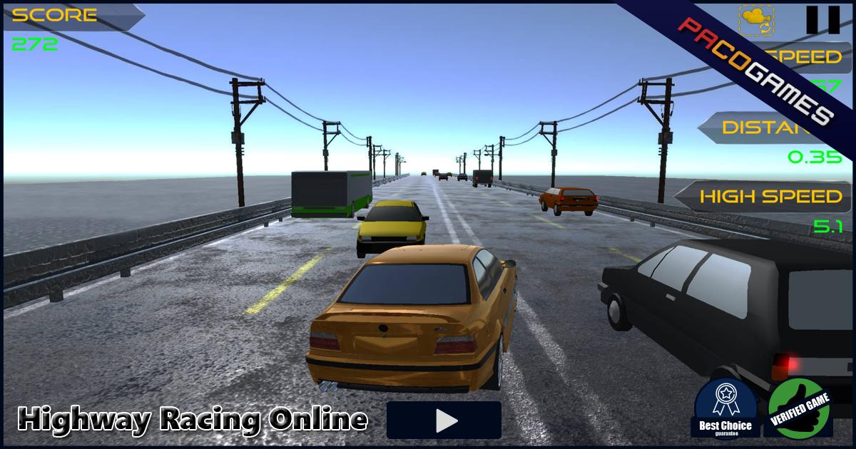 Highway Racing Online Ucretsiz Oyna Pacogames Com Da