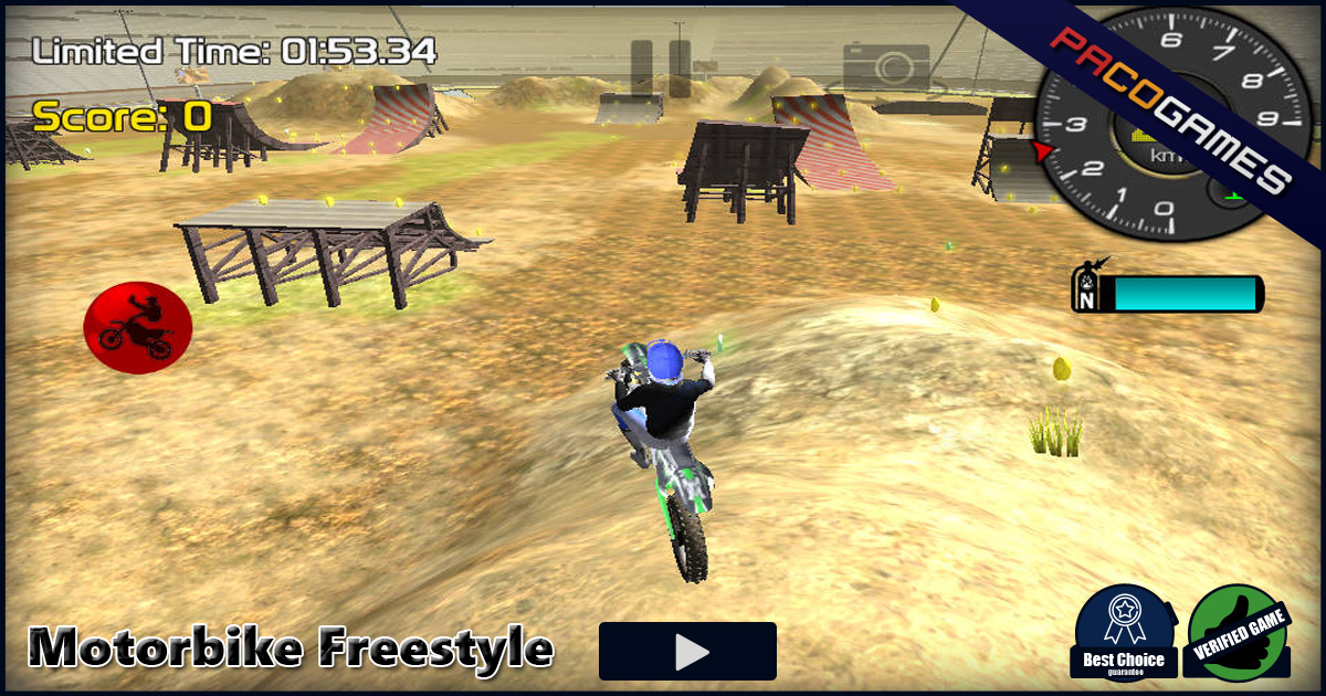 motorbike freestyle play it for free at pacogames com