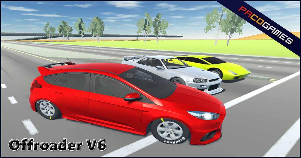 Offroader V6 - Играть бесплатно на PacoGames.com!