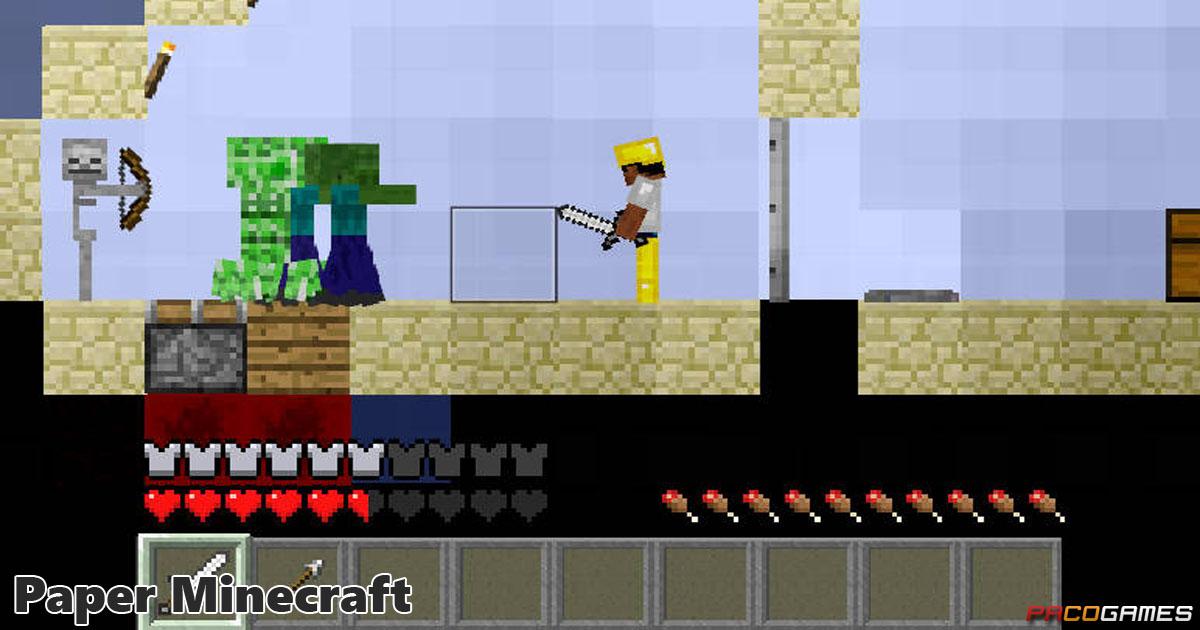 Paper Minecraft Spiele Die Kostenlos Bei PacoGamescom - Minecraft fur pc online spielen