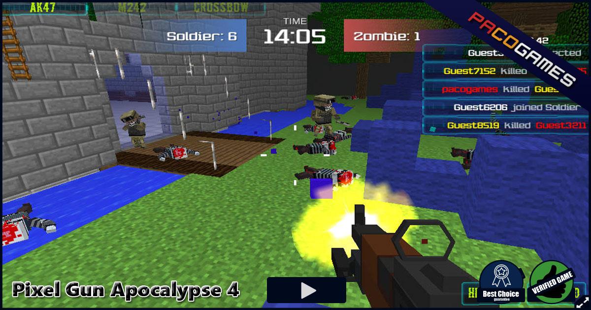 Jogo Online Pixel Gun Apocalypse 4