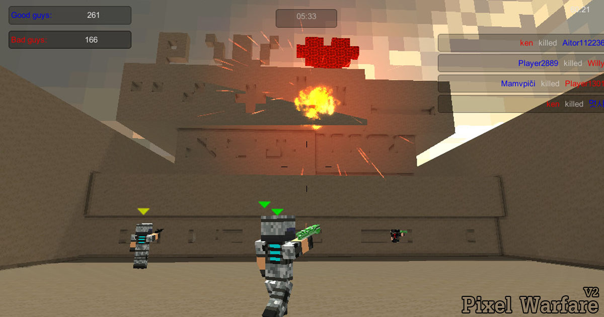 Pixel warfare v2 play it for free at pacogames publicscrutiny Choice Image