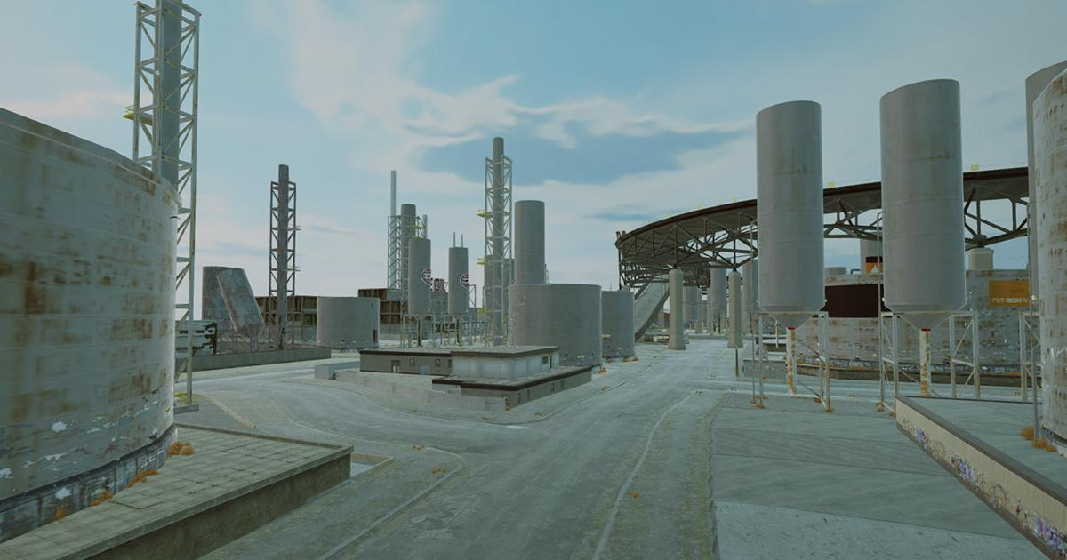 Project Car Physics Simulator: Industrial Zone