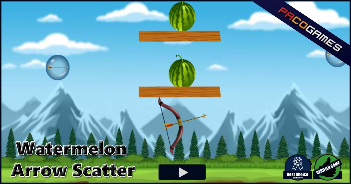 watermelon arrow scatter play it for free at pacogames com