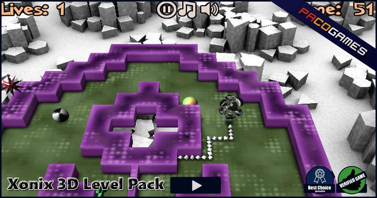 Jogo Xonix 3D Level Pack