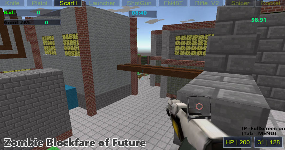 Jogo online Zombie Blockfare of Future