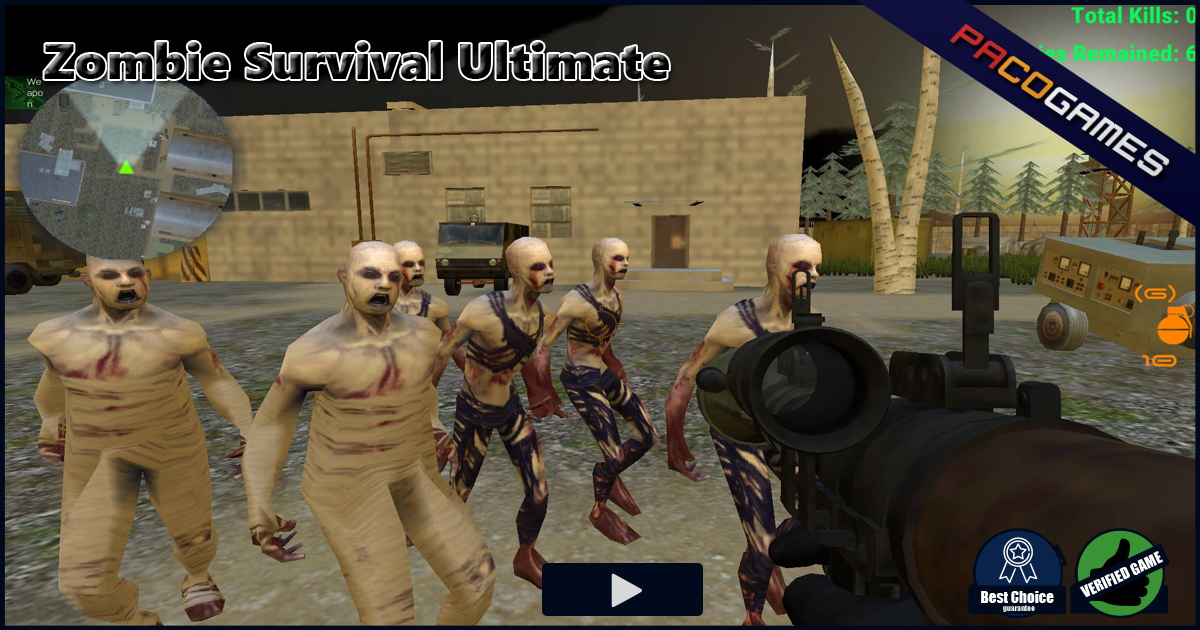 Zombie Survival Ultimate - Play it for Free at PacoGames.com!