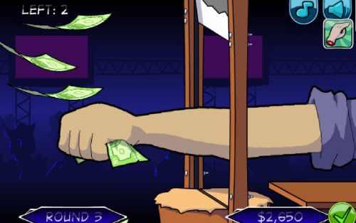 Handless Millionaire game