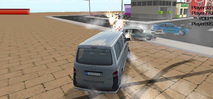 Crunched Metals: Drifting wars. 3D action driving game with cars extended about weapons