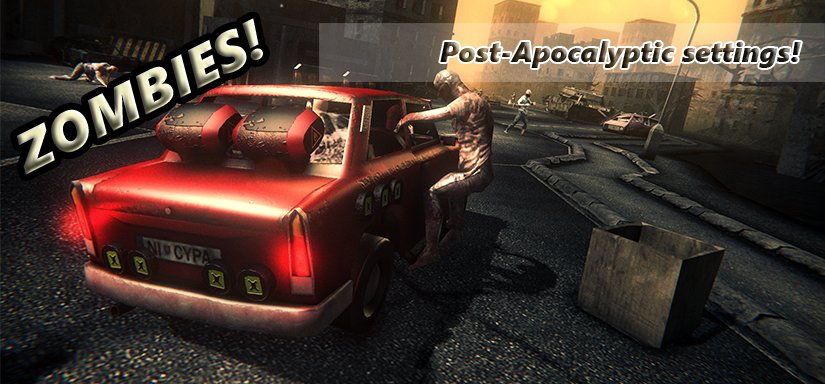 Zombie show action driving game - promotion image