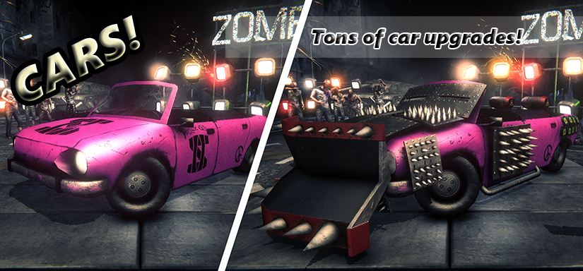 Zombie show action driving game - look to a garage