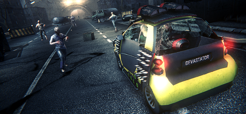 Zombie show action driving game - gameplay image